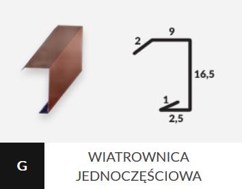 g wiatrownica jednoczesciowa
